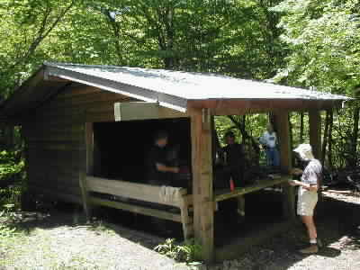 Muskrat Creek shelter